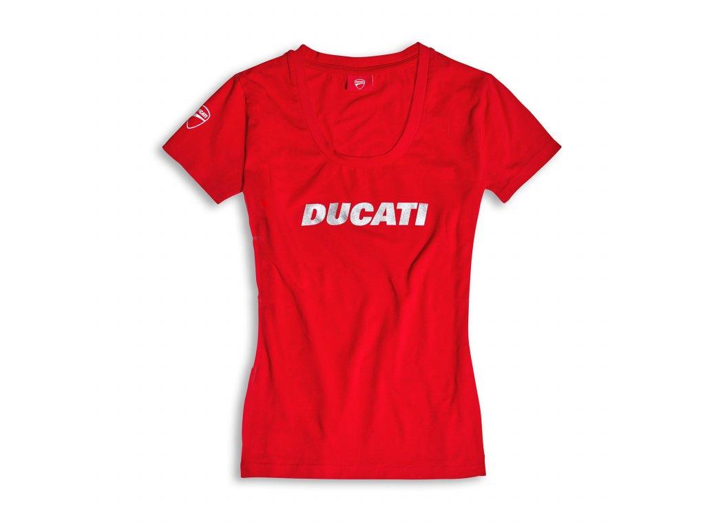 98769054 T shirt Donna Ducati Ducatiana rossa