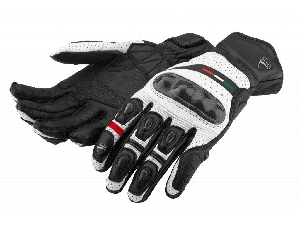 Rukavice Ducati Diavel černo-bílé
