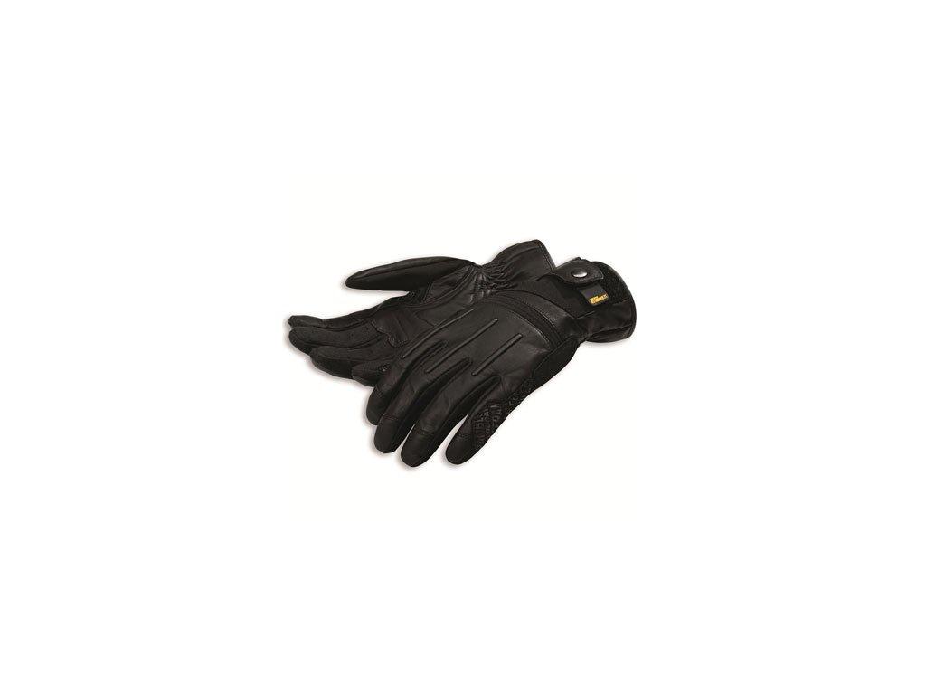 rukavice Scrambler Street Master černé kožené