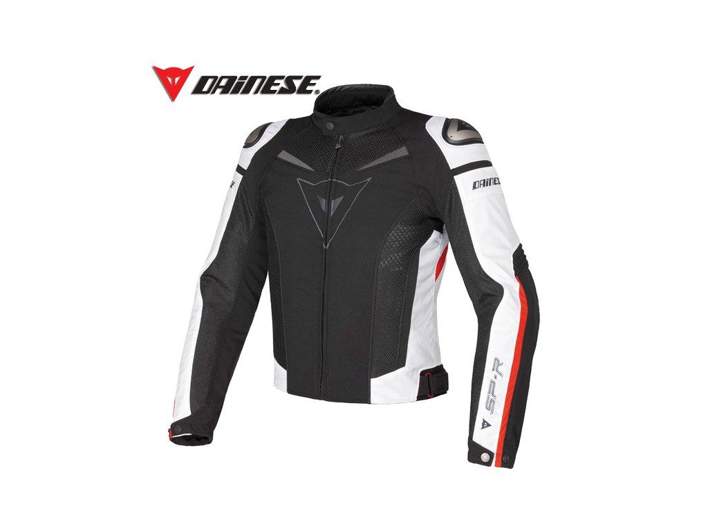 bunda Dainese Super Speed tex černá-bílá-červená