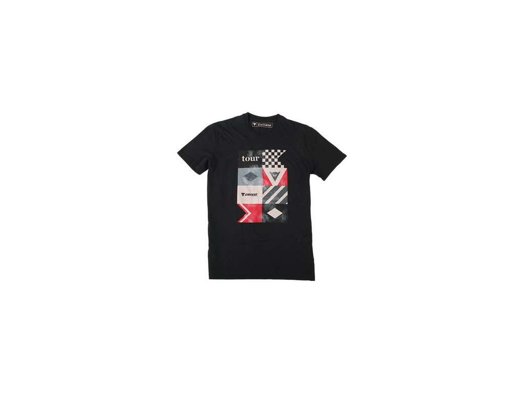 Tričko Dainese TOUR černá