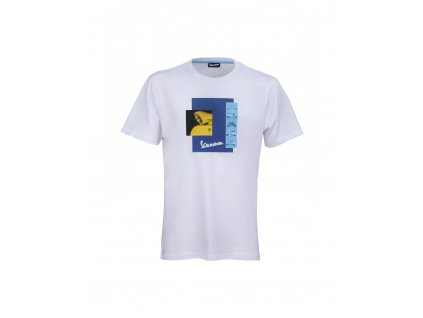 607179mbwh t shirt vespa heritage white