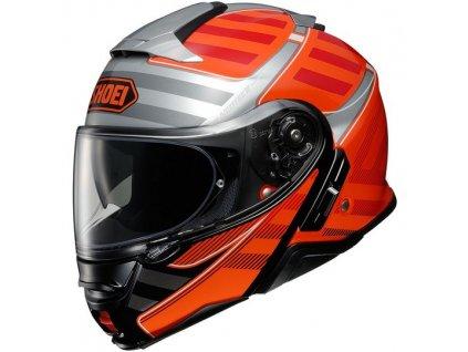 shoei neotec ii splicer tc 8 flip up helmet l