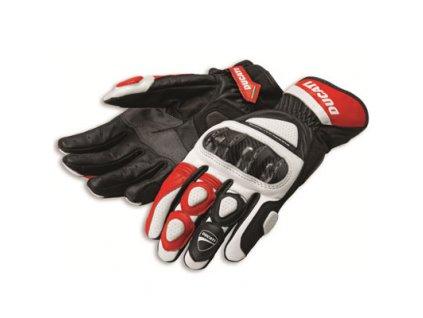 Rukavice Ducati SPORT 2 červeno-černo-bílé