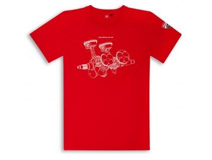 Ducati V4 Panigale Herren Baumwoll T Shirt rot 98769803