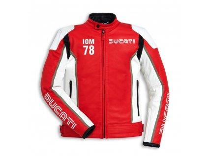 bunda Ducati IOM78 červeno-bílá
