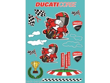 Dětské samolepky Ducati Cartoon
