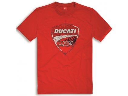 tričko Ducati Corse Sketch červené