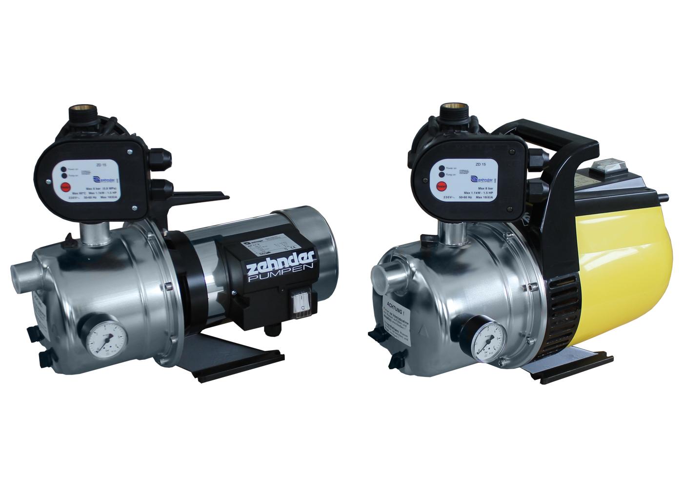 Automatické domovní vodárny s jednostupňovým čerpadlem