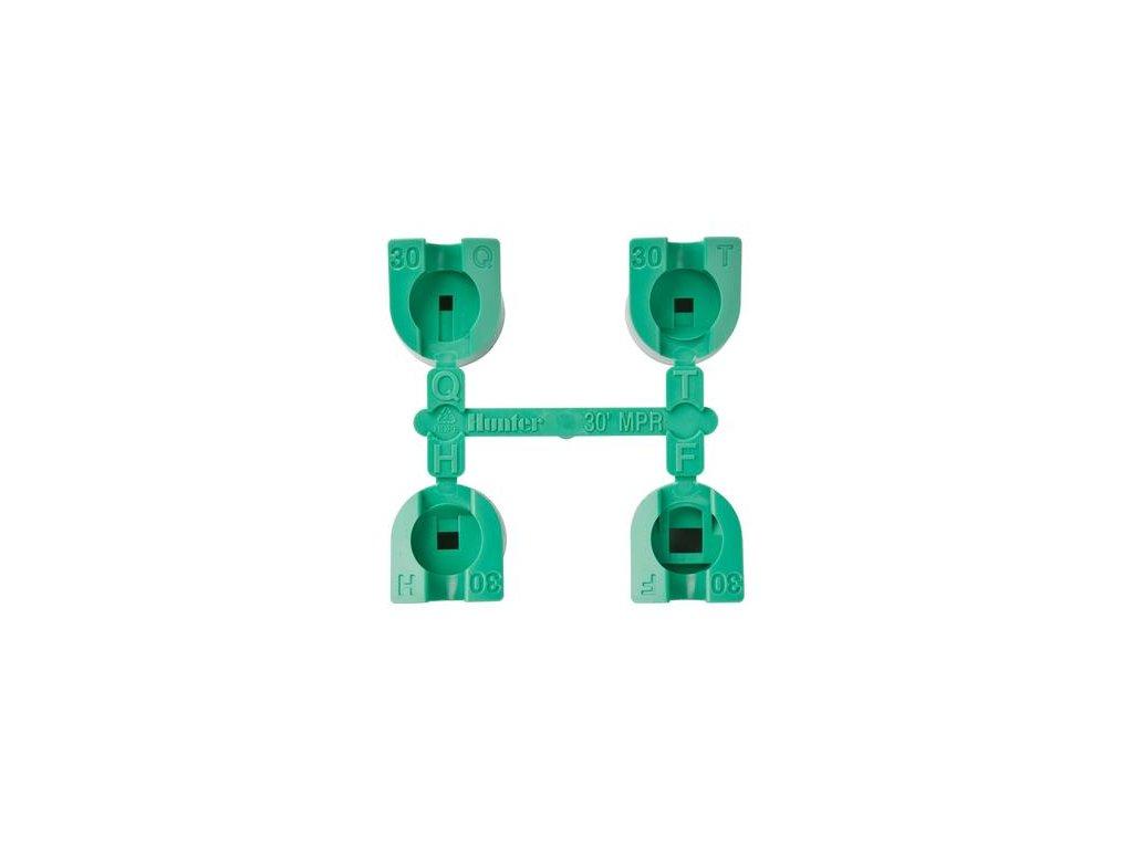 Sada trysiek MPR-30 (zelené) 90°,120°, 180°, 360°, dostrek 9,1m
