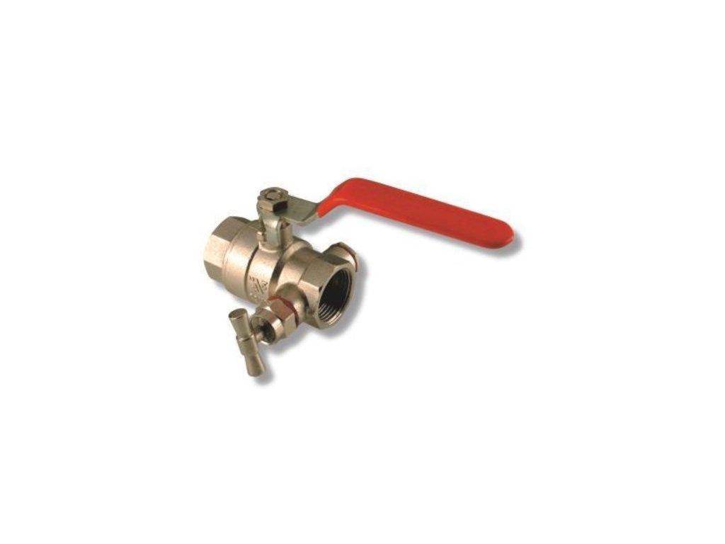 Guľový ventil s odvodnením
