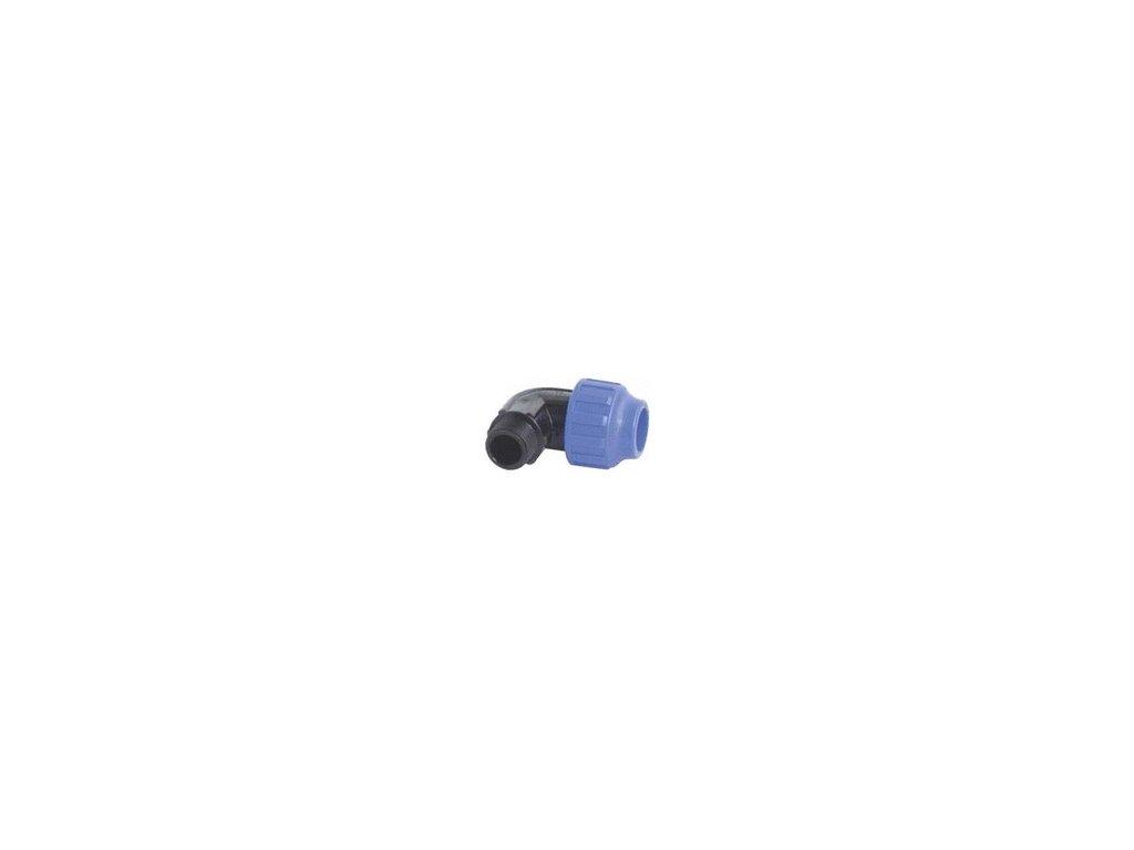 PE  TVAROVKA-Prípojka-Koleno 90° vonkajší závit