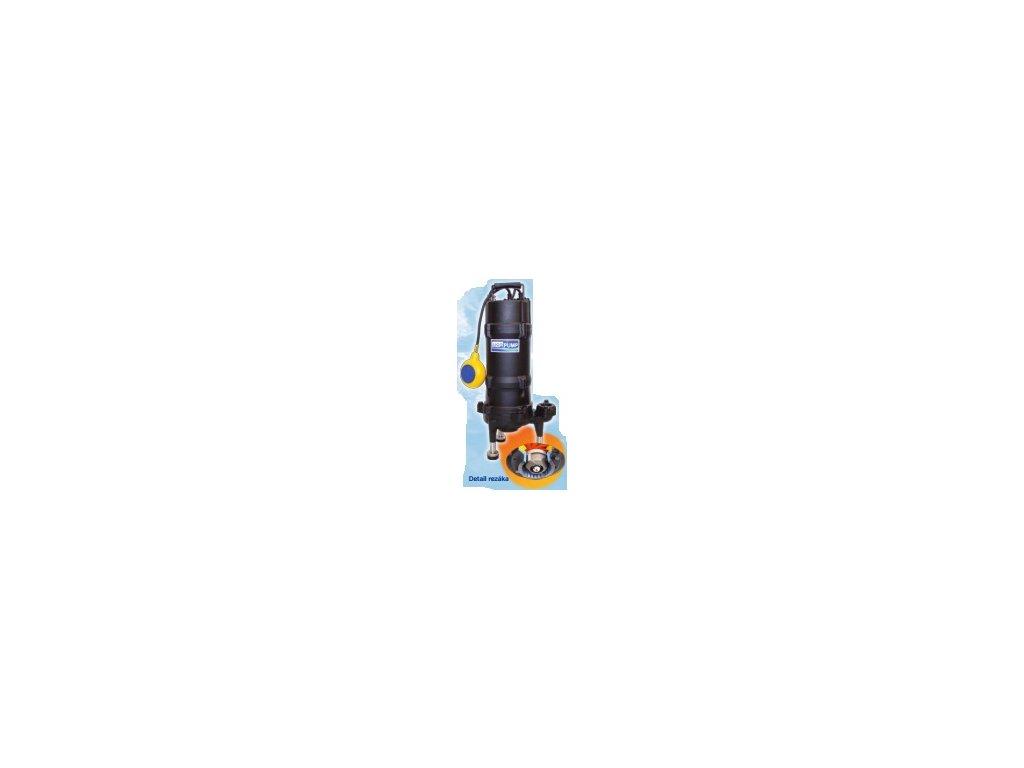 Kalové čerpadlo s rezacím zariadením; 32GF 21.0F; 230V; 1,00 kW. Prevedenie s plavákom.