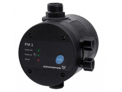 """Ovládacia jednotka Grundfos PM1, 230V, 1"""", max.10A a max.pracovný tlak 10BAR. Jednotka má vstavanú ochranu proti chodu na sucho a el.krytie IP65."""
