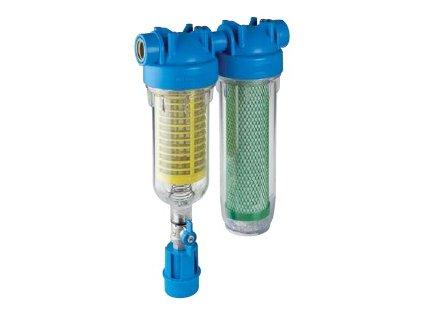 """Dvojdielna jednotka HYDRA RAINMASTER DUO 1"""" RLH + CB/EC, vhodné pre pitnú vodu."""