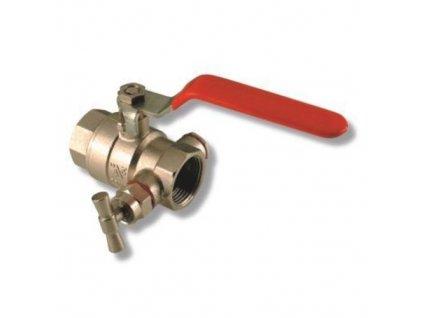 """Guľový ventil 1"""" s odvodnením"""