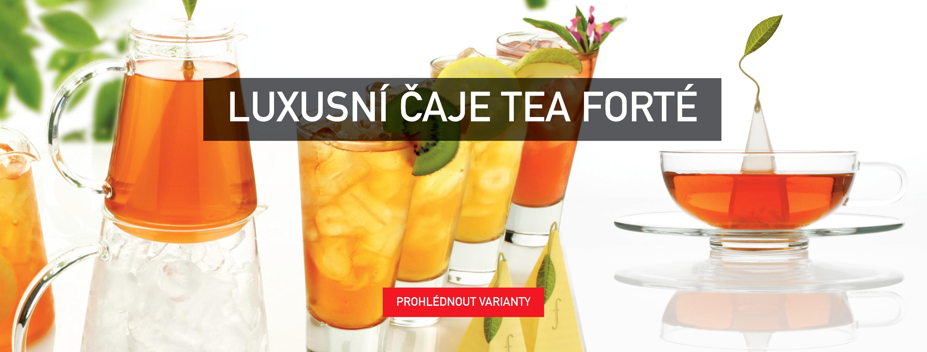 Luxusní čaje Tea forté, pyramidkové čaje