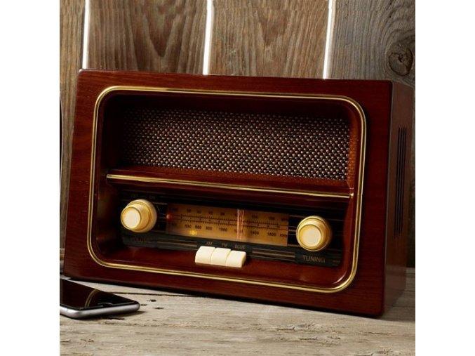 Retro rádio . Říkali to v rádie
