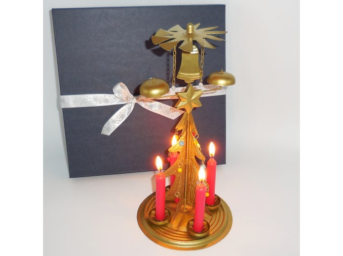 vánoční tradice - svícen se zvoněním