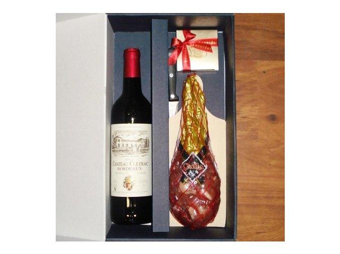 Sušená kýta s Bordeaux . Leonidas
