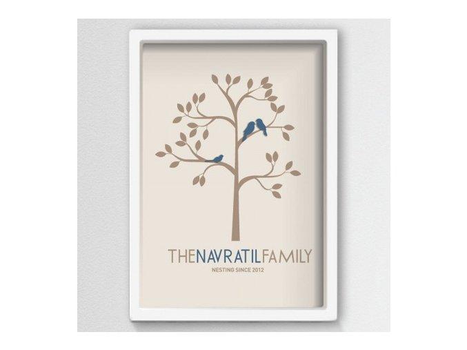 Family Tree . Rodinný plastický obraz