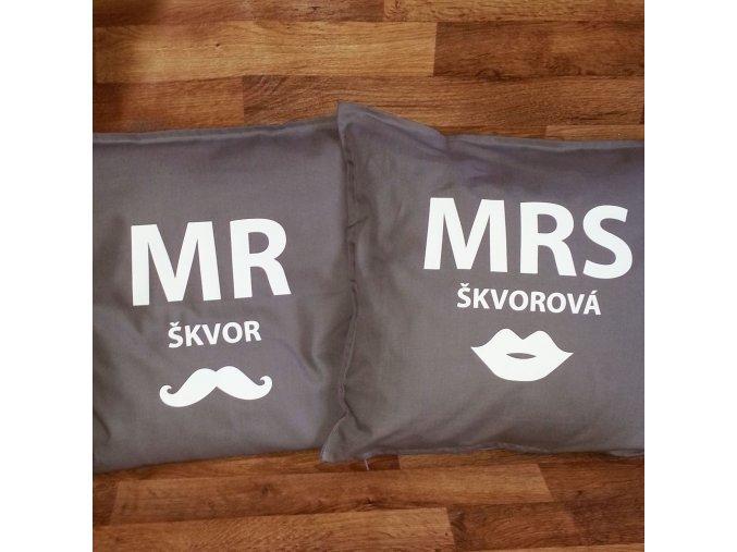 Svatební polštářky . Pro dva