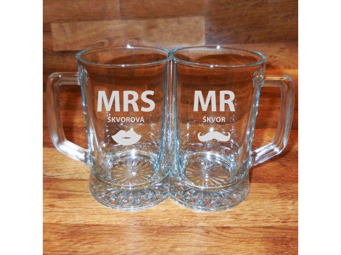 Novomanželské pivo . Double půllitr