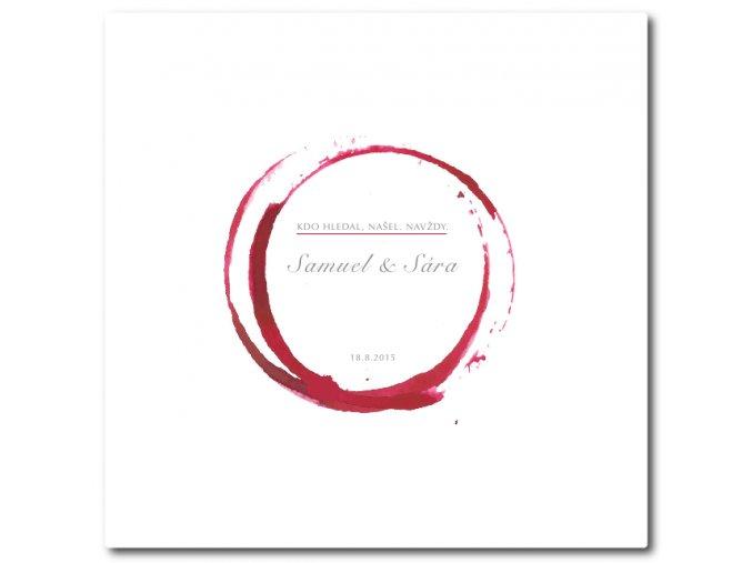 Vinná stezka životem . NAVŽDY (obraz, sklenky a víno)