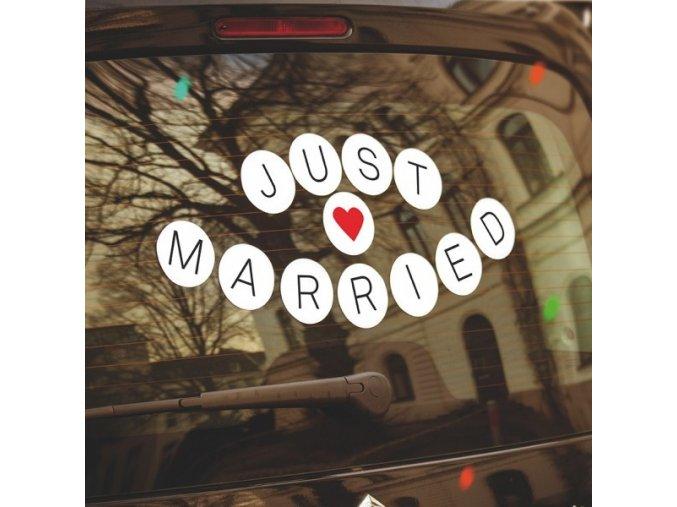 Samolepky pro novomanžele . vlastní text