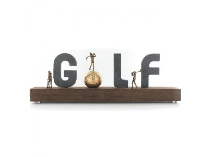 Golf . Luxusní dekorační trofej