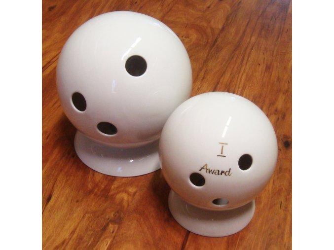 Bowling koule . Porcelán