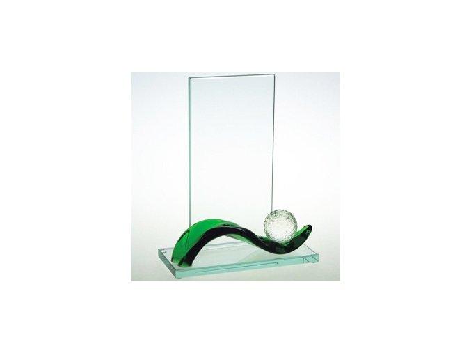 GREEN WAVE GOLF . Linuté sklo a leštěný Optivite