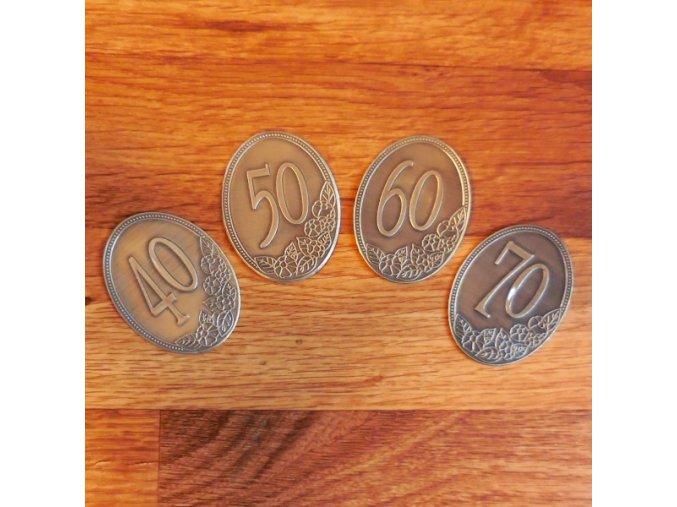 oznaceni emblemem jubileum 40 50 60 70 80