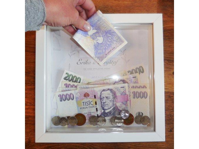 Svatební kasička . Peníze jako svatební dar