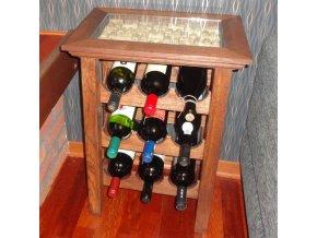 Stolek na 9 lahví . WINE