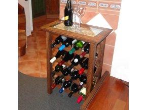 Stolek na 16 lahví . WINE