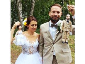 Loutky novomanželů . Svatební dar 2 malých loutek