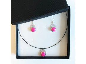 Originální Ibalginová sada šperků . Růžovky