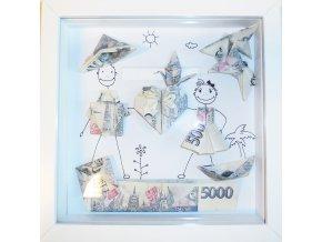Peníze jako svatební dar . Origami nejen pro novomanžele
