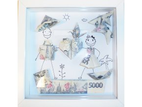 Peníze jako svatební dar . Origami pro novomanžele