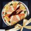 Krevetový dort . Luxusní slaný dort
