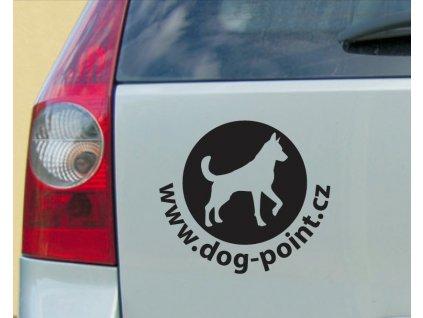 """Nálepka na auto """"Dogpoint"""" - černá malá"""