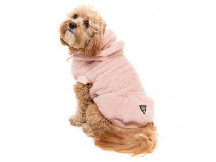 plush teddy dog hoodie pink[2]