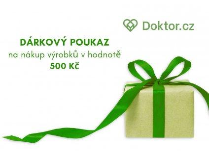 DÁRKOVÝ POUKAZ na nákup výrobků v hodnotě 500 Kč na eshopu eshop.doktor.cz DARK1xxxx (3)