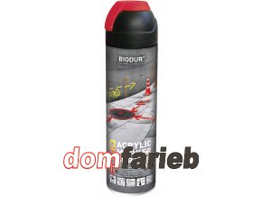 BIODUR Constrcution marking spray red