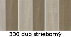 harmonikové dvere Accordion: farba 330 dub strieborný