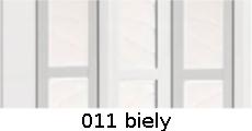 harmonikové dvere Crystalline Classic: farba 011 biely