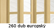 harmonikové dvere Crystalline Classic: farba 260 dub europský