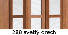 harmonikové dvere Crystalline Classic: farba 288 svetlý orech