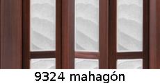 harmonikové dvere Crystalline Classic: farba 9324 mahagón